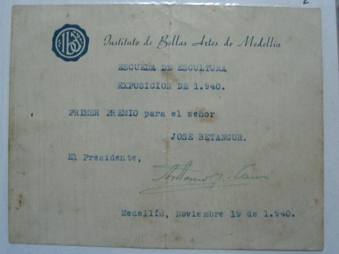 Diploma_bellas_artes_1940